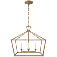 Visual Comfort CHC2187GI E. F. Chapman Darlana 4 Light 28 inch Gilded Iron Foyer Lantern Ceiling Light, Medium Wide