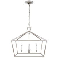 Visual Comfort CHC2187PN E. F. Chapman Darlana 4 Light 28 inch Polished Nickel Foyer Lantern Ceiling Light, Medium Wide