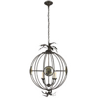 E. F. Chapman Gramercy 4 Light 24 inch Aged Iron Foyer Pendant Ceiling Light