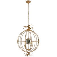 Visual Comfort CHC2188GI E. F. Chapman Gramercy 4 Light 24 inch Gilded Iron Globe Lantern Ceiling Light, Large