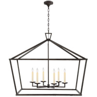 Visual Comfort CHC2191AI Chapman & Myers Darlana 6 Light 50 inch Aged Iron Wide Lantern Pendant Ceiling Light, XXL