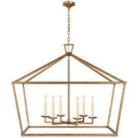 Visual Comfort CHC2191GI Chapman & Myers Darlana 6 Light 50 inch Gilded Iron Wide Lantern Pendant Ceiling Light, XXL