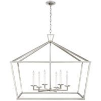 Visual Comfort CHC2191PN Chapman & Myers Darlana 6 Light 50 inch Polished Nickel Wide Lantern Pendant Ceiling Light, XXL