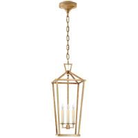 Visual Comfort CHC2194GI Chapman & Myers Darlana 3 Light 10 inch Gilded Iron Tall Lantern Pendant Ceiling Light Large