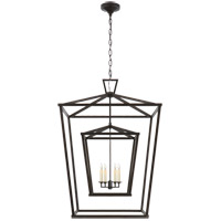 E. F. Chapman Darlana 4 Light 29 inch Aged Iron Foyer Lantern Ceiling Light