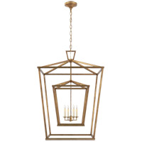 E. F. Chapman Darlana 4 Light 29 inch Gilded Iron Foyer Lantern Ceiling Light