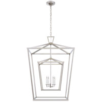 E. F. Chapman Darlana 4 Light 29 inch Polished Nickel Foyer Lantern Ceiling Light