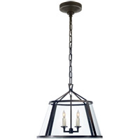 Visual Comfort E.F. Chapman Darlana 4 Light Pendant in Aged Iron with Clear Glass Shade CHC2201AI-CG