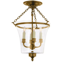 E. F. Chapman Sussex 4 Light 12 inch Antique-Burnished Brass Semi-Flush Ceiling Light