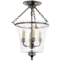E.F. Chapman Sussex 4 Light 12 inch Antique Nickel Semi-Flush Ceiling Light