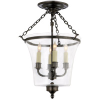 Visual Comfort E.F. Chapman Sussex 4 Light Semi-Flush in Bronze with Wax CHC2209BZ