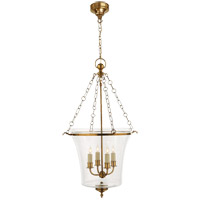 E.F. Chapman Sussex 4 Light 19 inch Antique-Burnished Brass Foyer Pendant Ceiling Light in Antique Burnished Brass
