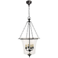 Visual Comfort E.F. Chapman Sussex 4 Light Ceiling Lantern in Bronze with Wax CHC2210BZ