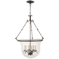 Visual Comfort E.F. Chapman New Country 6 Light Foyer Pendant in Aged Iron with Wax CHC2212AI