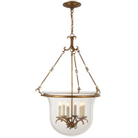 E.F. Chapman New Country 6 Light 23 inch Gilded Iron with Wax Foyer Pendant Ceiling Light