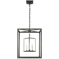 Visual Comfort CHC2217AI E. F. Chapman Osborne 3 Light 18 inch Aged Iron with Wax Foyer Pendant Ceiling Light