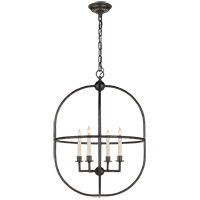 Visual Comfort CHC2224AI E. F. Chapman Desmond 4 Light 21 inch Aged Iron Foyer Lantern Ceiling Light