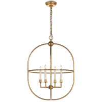 Visual Comfort CHC2224G E. F. Chapman Desmond 4 Light 21 inch Gild Foyer Lantern Ceiling Light, Open Oval