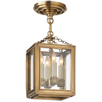 E.F. Chapman Lund 4 Light 7 inch Antique-Burnished Brass Pendant Ceiling Light in Antique Burnished Brass