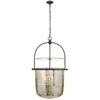 E. F. Chapman Lorford 4 Light 25 inch Aged Iron Bell Lantern Ceiling Light, Large