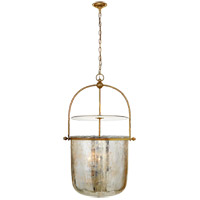 E. F. Chapman Lorford 4 Light 25 inch Gilded Iron Bell Lantern Ceiling Light, Large