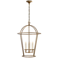 Visual Comfort E.F. Chapman Darlana 6 Light Foyer Pendant in Gilded Iron CHC2366GI