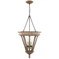 Visual Comfort CHC2400WGL-CG E. F. Chapman St. Germain 4 Light 23 inch Weathered White and Gold Lantern Pendant Ceiling Light