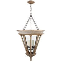 Visual Comfort CHC2401WGL-CG E. F. Chapman St. Germain 4 Light 31 inch Weathered White and Gold Lantern Pendant Ceiling Light