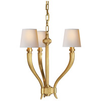 Visual Comfort E.F. Chapman Ruhlmann 3 Light Chandelier in Antique-Burnished Brass CHC2461AB-NP