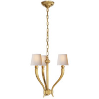 Visual Comfort CHC2461AB-NP E. F. Chapman Ruhlmann 3 Light 18 inch Antique-Burnished Brass Chandelier Ceiling Light
