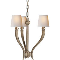 Visual Comfort E.F. Chapman Ruhlmann 3 Light Chandelier in Antique Nickel CHC2461AN-NP