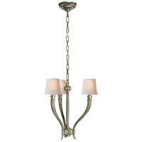 Visual Comfort CHC2461AN-NP E. F. Chapman Ruhlmann 3 Light 18 inch Antique Nickel Chandelier Ceiling Light