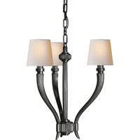 E. F. Chapman Ruhlmann 3 Light 18 inch Bronze Chandelier Ceiling Light