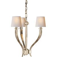 Visual Comfort E.F. Chapman Ruhlmann 3 Light Chandelier in Polished Nickel CHC2461PN-NP