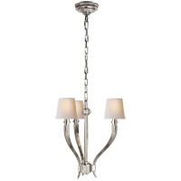 Visual Comfort CHC2461PN-NP E. F. Chapman Ruhlmann 3 Light 18 inch Polished Nickel Chandelier Ceiling Light