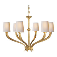 E. F. Chapman Ruhlmann 6 Light 35 inch Antique-Burnished Brass Chandelier Ceiling Light in Antique Burnished Brass