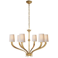 E. F. Chapman Ruhlmann 6 Light 35 inch Antique-Burnished Brass Chandelier Ceiling Light
