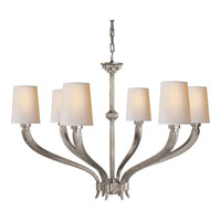 Visual Comfort E.F. Chapman Ruhlmann 6 Light Chandelier in Antique Nickel CHC2462AN-NP