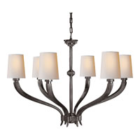 Visual Comfort E.F. Chapman Ruhlmann 6 Light Chandelier in Bronze with Wax CHC2462BZ-NP