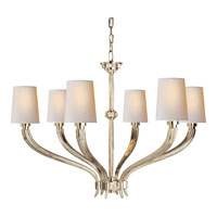 Visual Comfort E.F. Chapman Ruhlmann 6 Light Chandelier in Polished Nickel CHC2462PN-NP