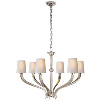 Visual Comfort CHC2462PN-NP E. F. Chapman Ruhlmann 6 Light 35 inch Polished Nickel Chandelier Ceiling Light