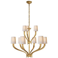 E.F. Chapman Ruhlmann 9 Light 35 inch Antique-Burnished Brass Chandelier Ceiling Light in Antique Burnished Brass