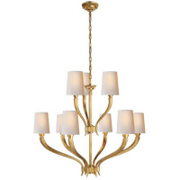 E. F. Chapman Ruhlmann 9 Light 35 inch Antique-Burnished Brass Chandelier Ceiling Light in Antique Burnished Brass