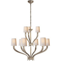 E.F. Chapman Ruhlmann 9 Light 35 inch Antique Nickel Chandelier Ceiling Light