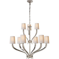 Visual Comfort E.F. Chapman Ruhlmann 9 Light Chandelier in Polished Nickel CHC2465PN-NP