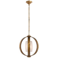 E. F. Chapman Metal Banded 1 Light 21 inch Gilded Iron Pendant Ceiling Light