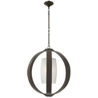 Visual Comfort E.F. Chapman Metal Banded 1 Light Pendant in Aged Iron with Wax CHC2531AI