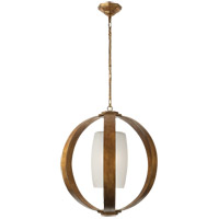 Visual Comfort E.F. Chapman Metal Banded 1 Light Pendant in Gilded Iron with Wax CHC2531GI