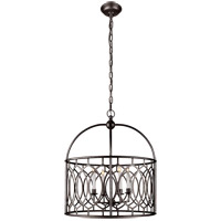 E. F. Chapman Marquise 6 Light 23 inch Aged Iron Foyer Pendant Ceiling Light