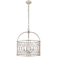 Visual Comfort E.F. Chapman Marquise 6 Light Foyer Pendant in Burnished Silver Leaf CHC2535BSL